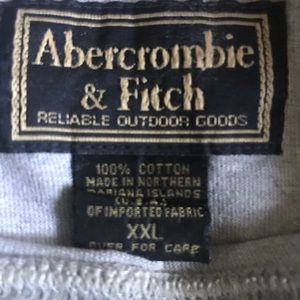 Abercrombie & Fitch Shirts - Abercrombie &Fitch, man T-shirt, short sleeves,XXL